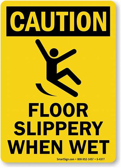 Slippery Wet Caution Floor Sign Signs Warning