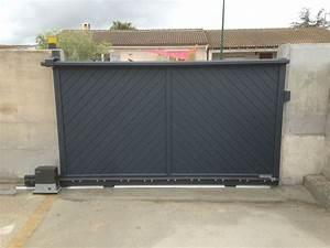 Portail Alu En Kit : pose portail coulissant portillon en alu et motorisation ~ Edinachiropracticcenter.com Idées de Décoration