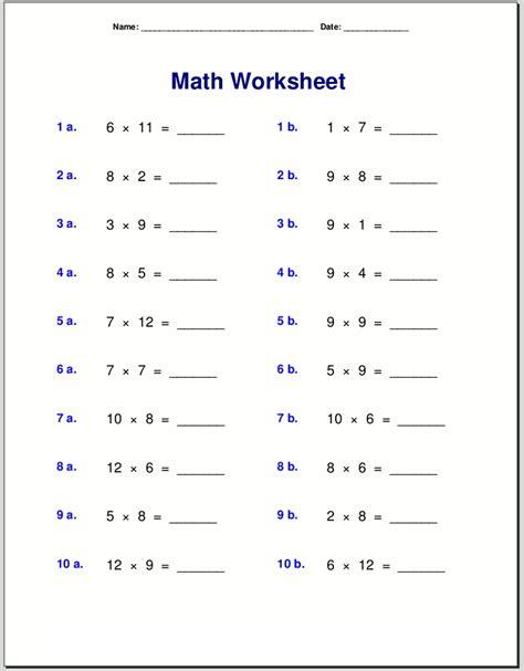 math quiz worksheets  print activity shelter