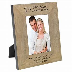 1st wedding anniversary personalised portrait frame by With wedding anniversary photo frames