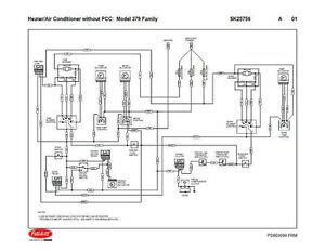 For Diagram Wiring Dummy 1994 Harley by Peterbilt 379 Family Hvac Wiring Diagrams With Without