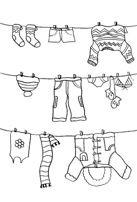pictures color  winter clothes coloring pages winter