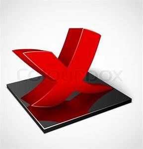 3d red check mark symbol | Stock Vector | Colourbox