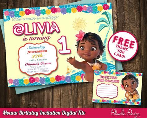 Moana Baby Birthday Invitations Printable