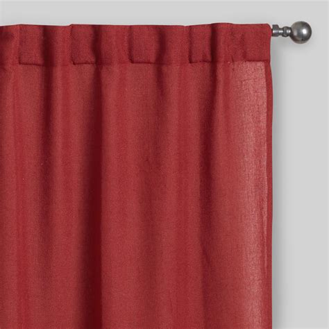 rust concealed tab top curtains set of 2 world market