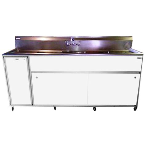 triple stainless steel sink shop monsam white triple basin stainless steel portable