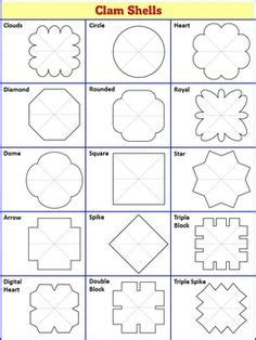clam shell templates lapbook interactive notebook templates petal pack 108
