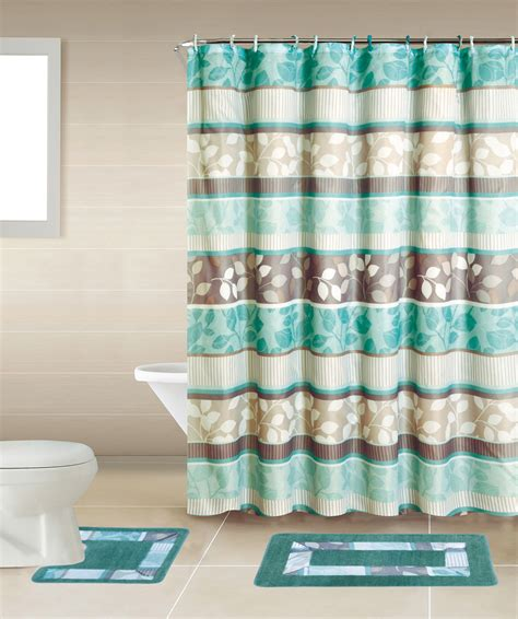 Shower Curtain Set - geometic helix swirls shower curtain with hooks bathroom