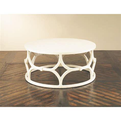 modern white round coffee table mara modern classic white trellis round coffee table