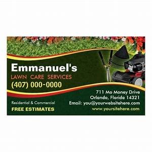 Landscaping lawn care mower business card template zazzle for Landscaping business card template