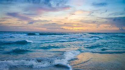 Ocean 4k Nature Waves Sunset Wallpapers During