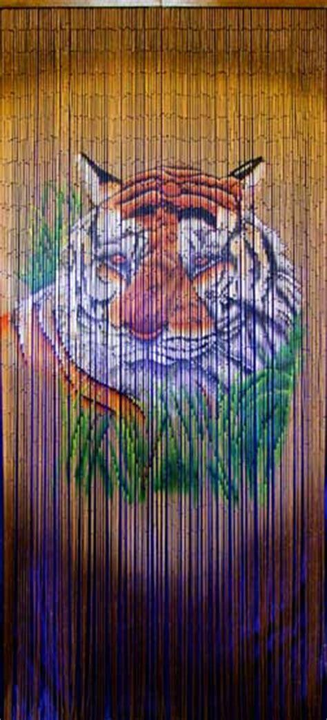 bamboo door hanging  tiger