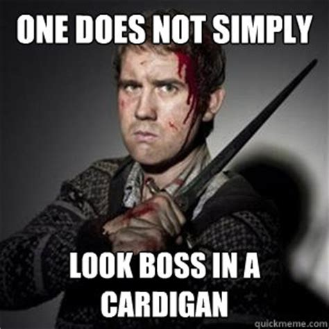 Neville Longbottom Meme - one does not simply look boss in a cardigan neville longbottom quickmeme