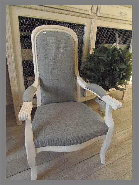 fauteuil voltaire enfant patin 233 gris perle tapiss 233 de lin gris