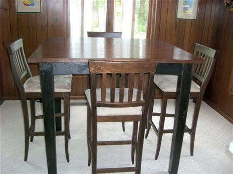 42 inch high desk custom built 42 inch bar table with matching chairs built