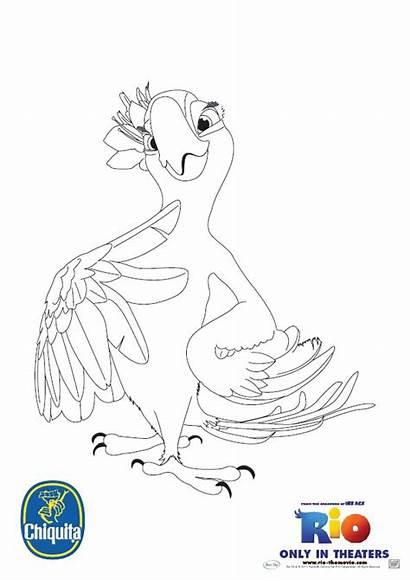 Rio Jewel Coloring Pages Cartoon Printable Disney