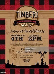 Timber B U00fbcheron F U00eate Invitation Mod U00e8le De Conception Illustration