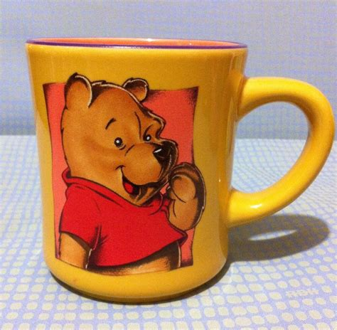 Shop for costumes, clothes, toys, collectibles, decor, movies and buy country disney classic winnie the pooh mug kitchen & home: Smiling Winnie The Pooh Coffee Mug Disney Cup Orange Yellow Ceramic Happy Bear | eBay