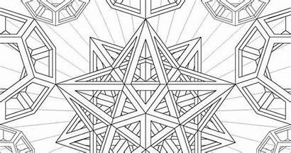 Sacred Geometry Coloring Mandalas