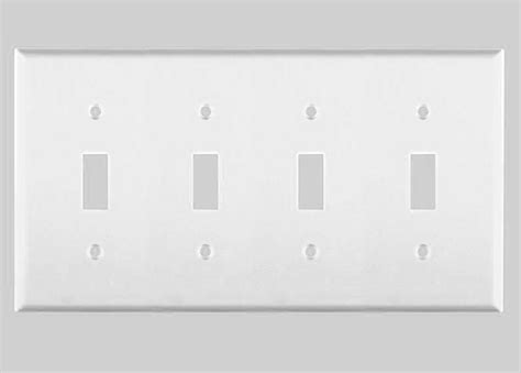 New Toggle Switch Gang Wall Plate Cover White Standard