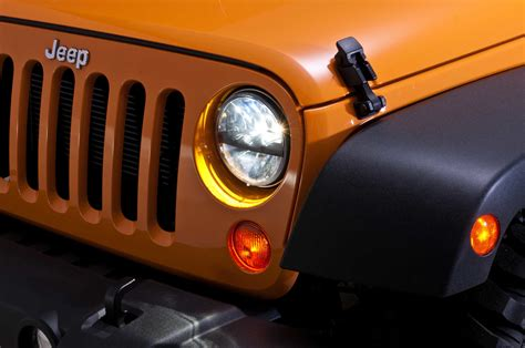 jeep tj led truck lite 55009 led headlight kit by rigid industries for