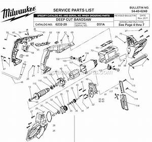 Milwaukee 6232-20 Parts List And Diagram