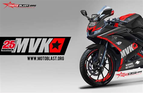 modifikasi striping all new yamaha r15 black livery maverick vinales mvk25 test pramusim motogp