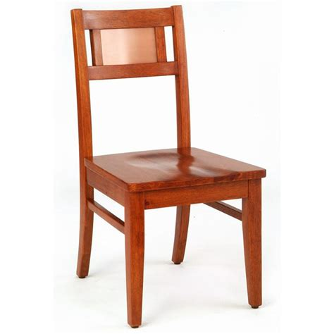 home styles manhattan oak dining side chair with copper