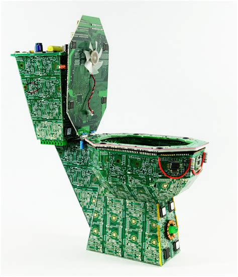 The Royal Data Throne Tiny Circuit Board Art Toilet For