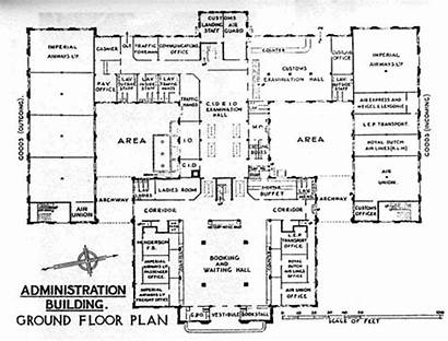 Administration Building Airport Croydon Plan Floor Ground