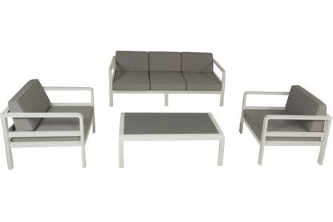 canapé en teck salon de jardin alu canapé 3 p 2 fauteuils avec