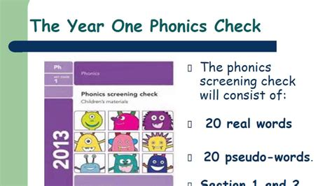 Year 1 Phonics Screening Check Youtube
