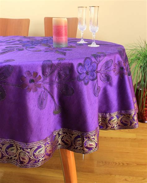 hand painted floral  tablecloth