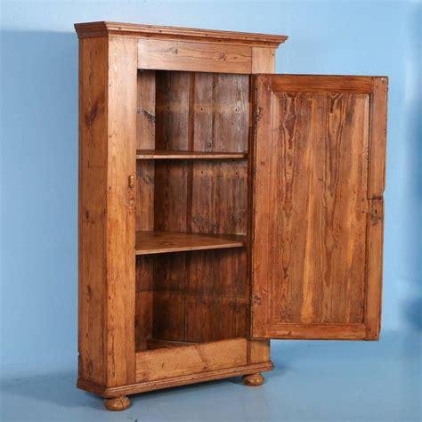 Pine Corner Cupboards by Large Antique Pine Single Door Swedish Corner Cupboard