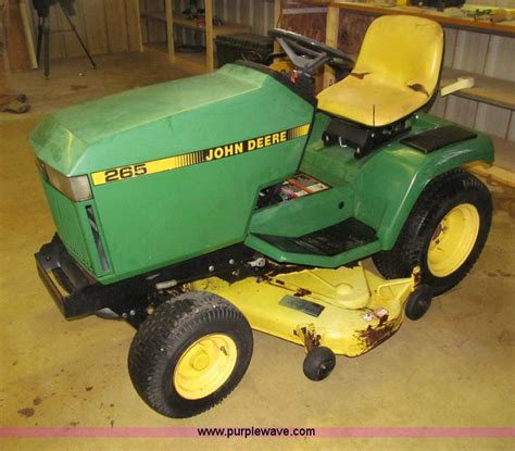 used mower deck for deere 265 deere 265 mower no reserve auction on wednesday
