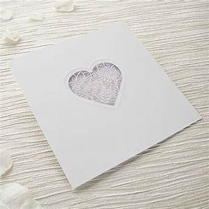 Grace diy heart laser cut wedding invitation kit for Laser cut heart wedding invitations uk