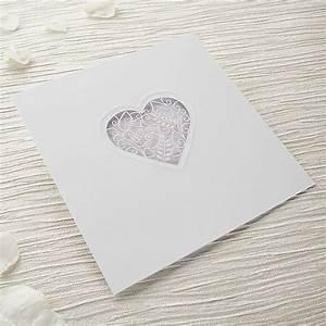 Grace diy heart laser cut wedding invitation kit for Laser cut heart wedding invitations uk