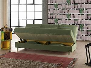 atlanta sofa bed convertible in green fabric by empire With atlanta convertible sectional sofa bed