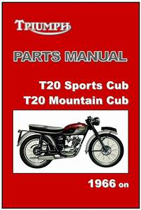 Triumph Parts Manual T20 T20s T20m Tiger Cub 1966