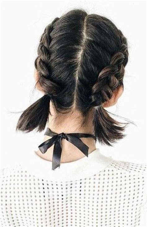 french braid short hair ideas  short haircutcom