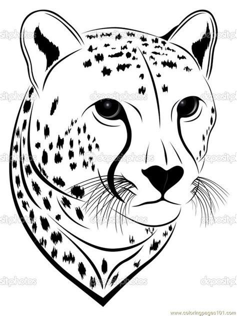 Coloring Pages Cheetah face (Mammals > Cheetah) - free printable | Anything You Can PRINT