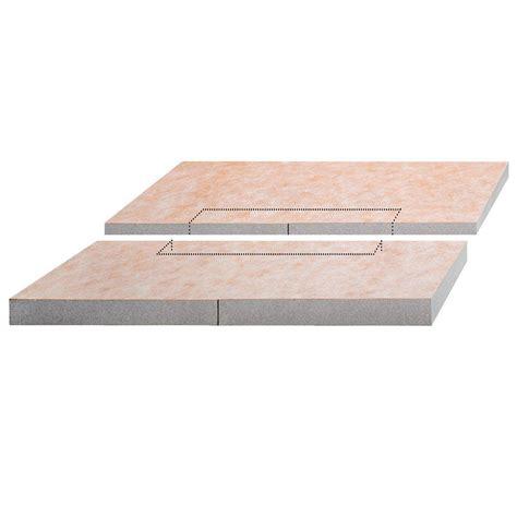 kerdi shower tray schluter kerdi shower l 55 in x 55 in polystyrene center drain sloped shower tray ksl1400