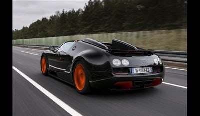 The supercar set another world speed record for the brand. Bugatti Veyron 16.4 Grand Sport Vitesse 2013 Roadster World Speed Record