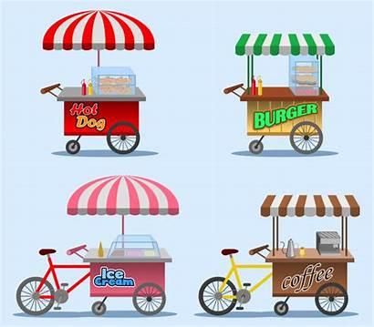 Stall Street Vector Illustration Burger Cartoon Vectors