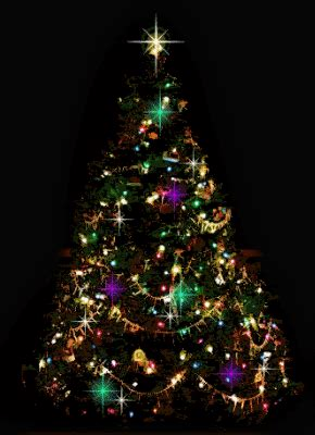 kumpulan gambar ucapan selamat natal pohon natal bergerak terbaru