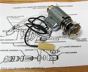 1956 Chevy Cigarette Lighter Assembly With Light Option