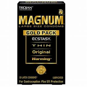 Trojan Condom Magnum Gold Collection Lubricated 10 Pc 2 Packs