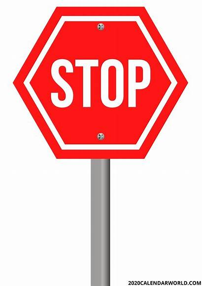 Stop Sign Printable Template Signs Parking