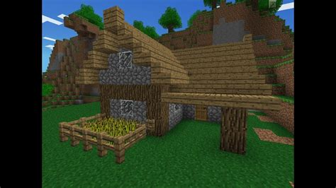 small minecraft pe starter house  youtube