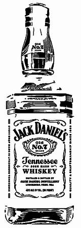 Jack Daniels Bottle Silhouette Coloring Clipart Pages Drawings Whiskey Johnson Carolyn Vinyl sketch template